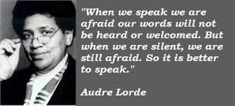 Audre Lorde On Speaking