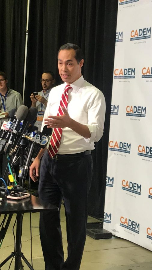 Presidential Candidate Julián Castro At CADEMS press gaggle
