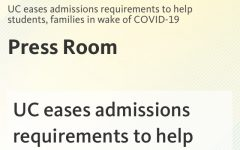 UC Modifies Admissions Due To COVID-19